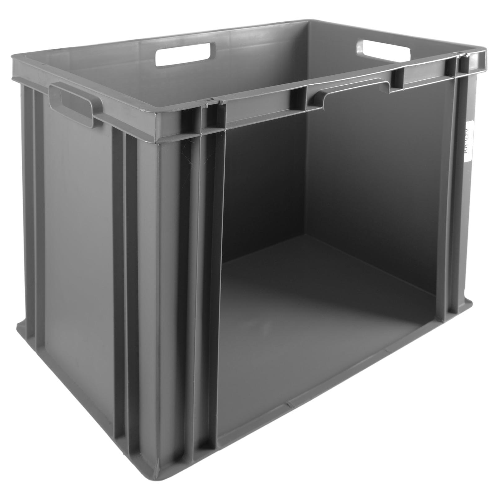 20x Grey Picking Boxes Warehouse Storage Bins Open