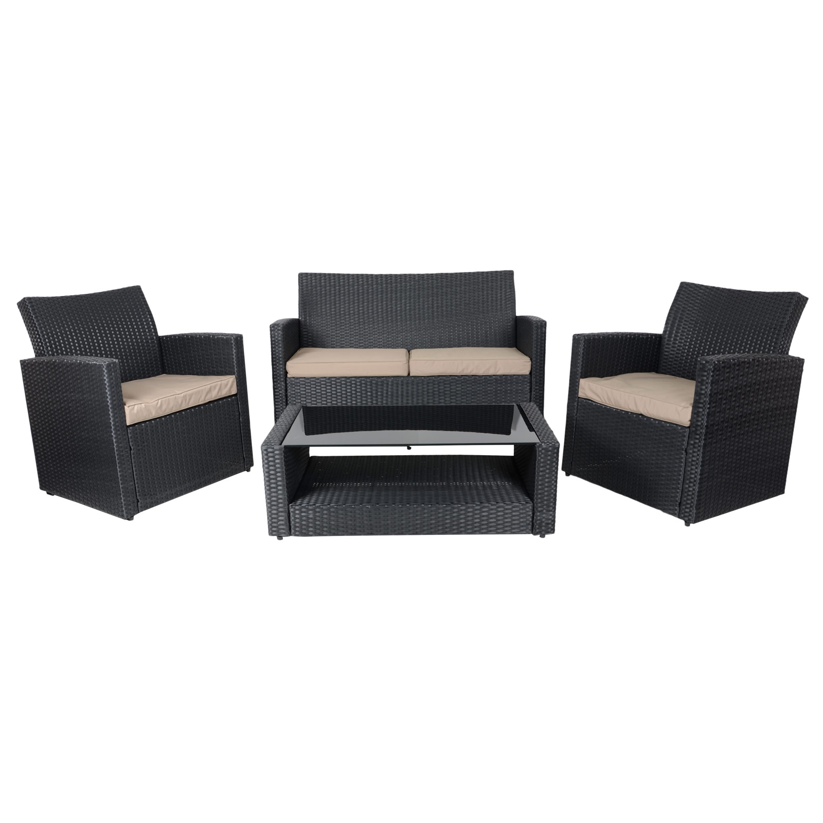 Black Rattan Sofa Uk Tuscany Black Sofa Set Table Chairs Rattan Wicker Garden