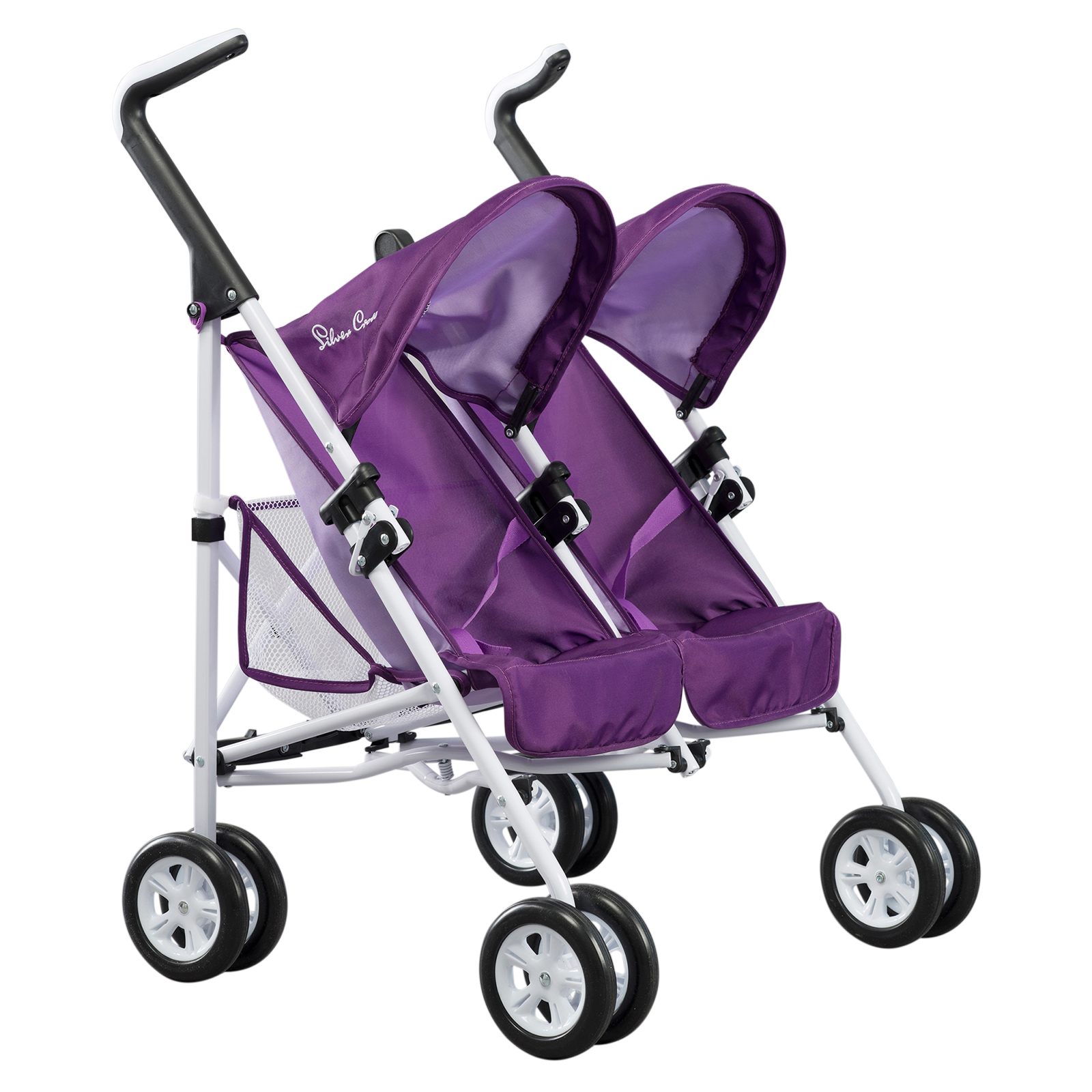 Silver Cross Buggy Toy Silver Cross Pop Duo Dolls Pram Damson Purple Girls Toy