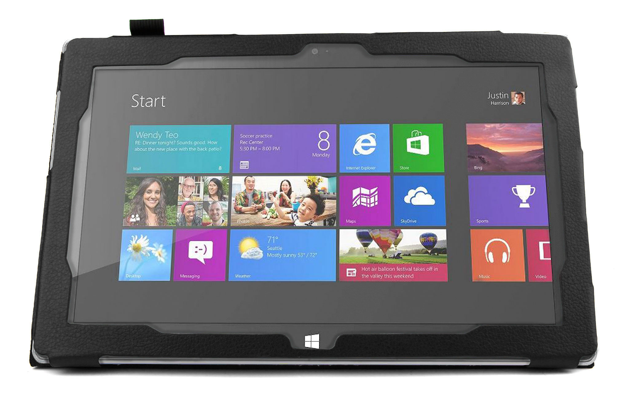 Microsoft Office Pour Tablette Etui Noir Pour Microsoft Surface 2 Windows Rt 8 1