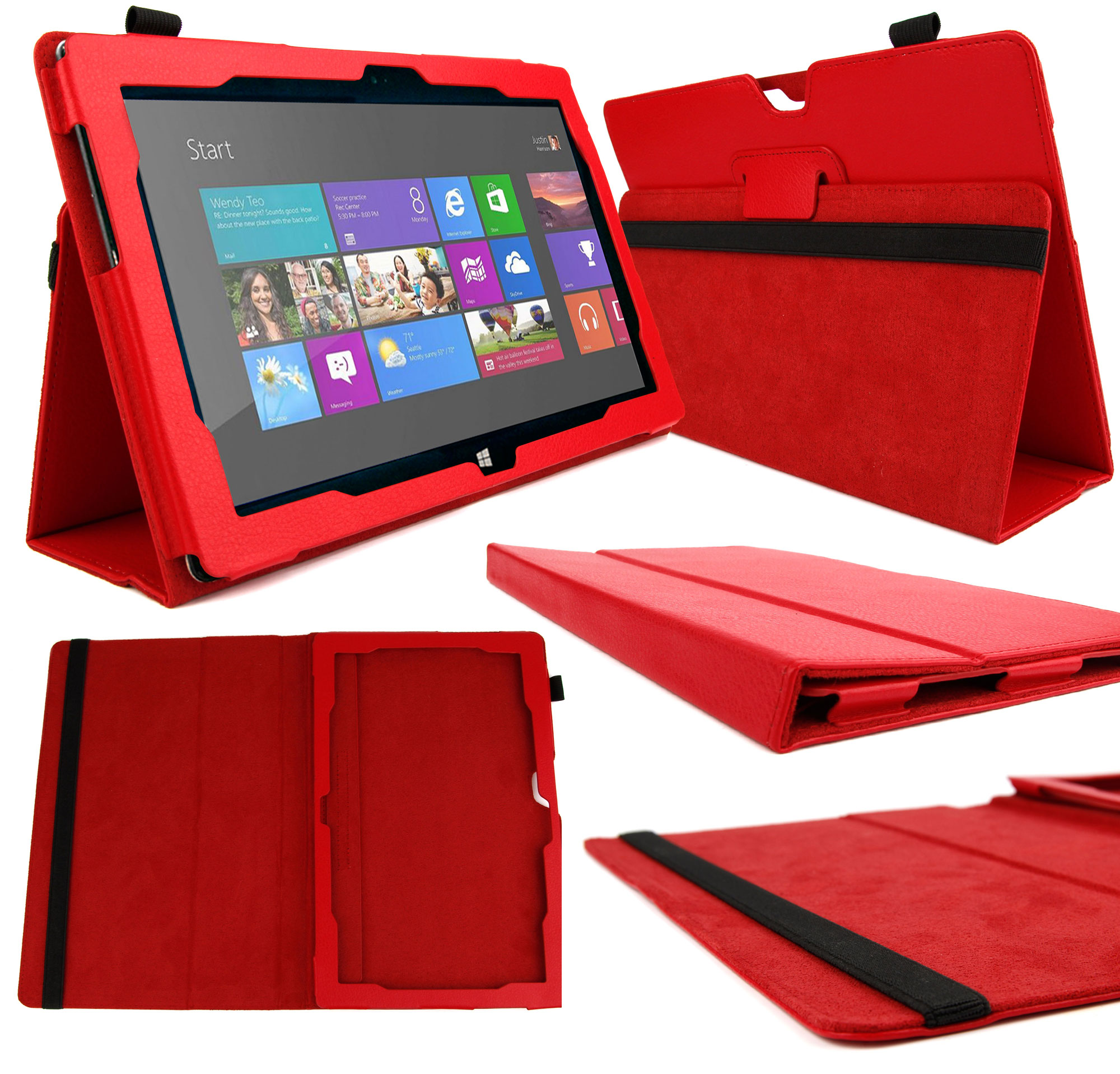 Microsoft Office Pour Tablette Etui Rouge Pour Microsoft Surface 2 Windows Rt 8 1