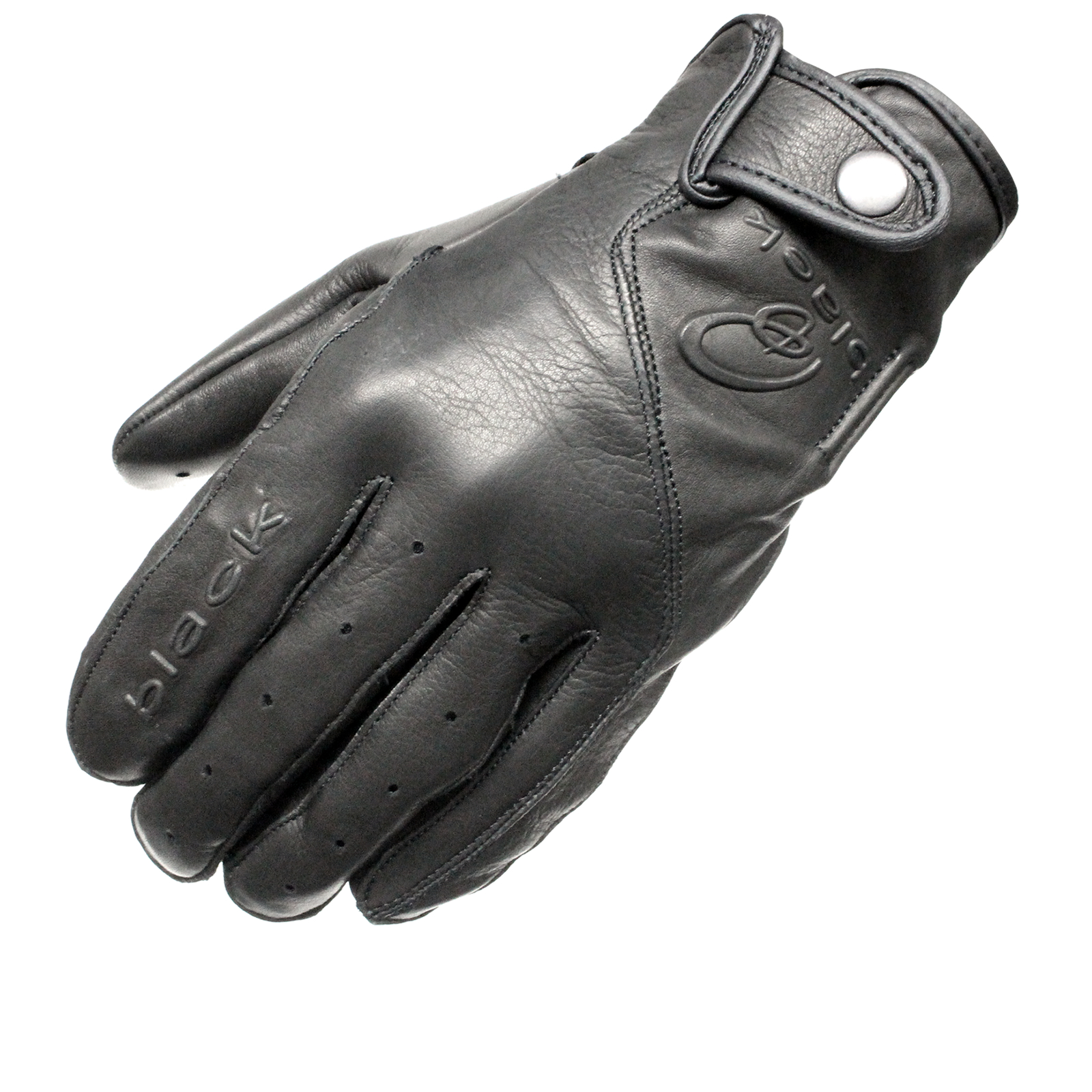 Black static leather classic vintage fashion motorcycle bike gloves ghostbikes enlarged preview