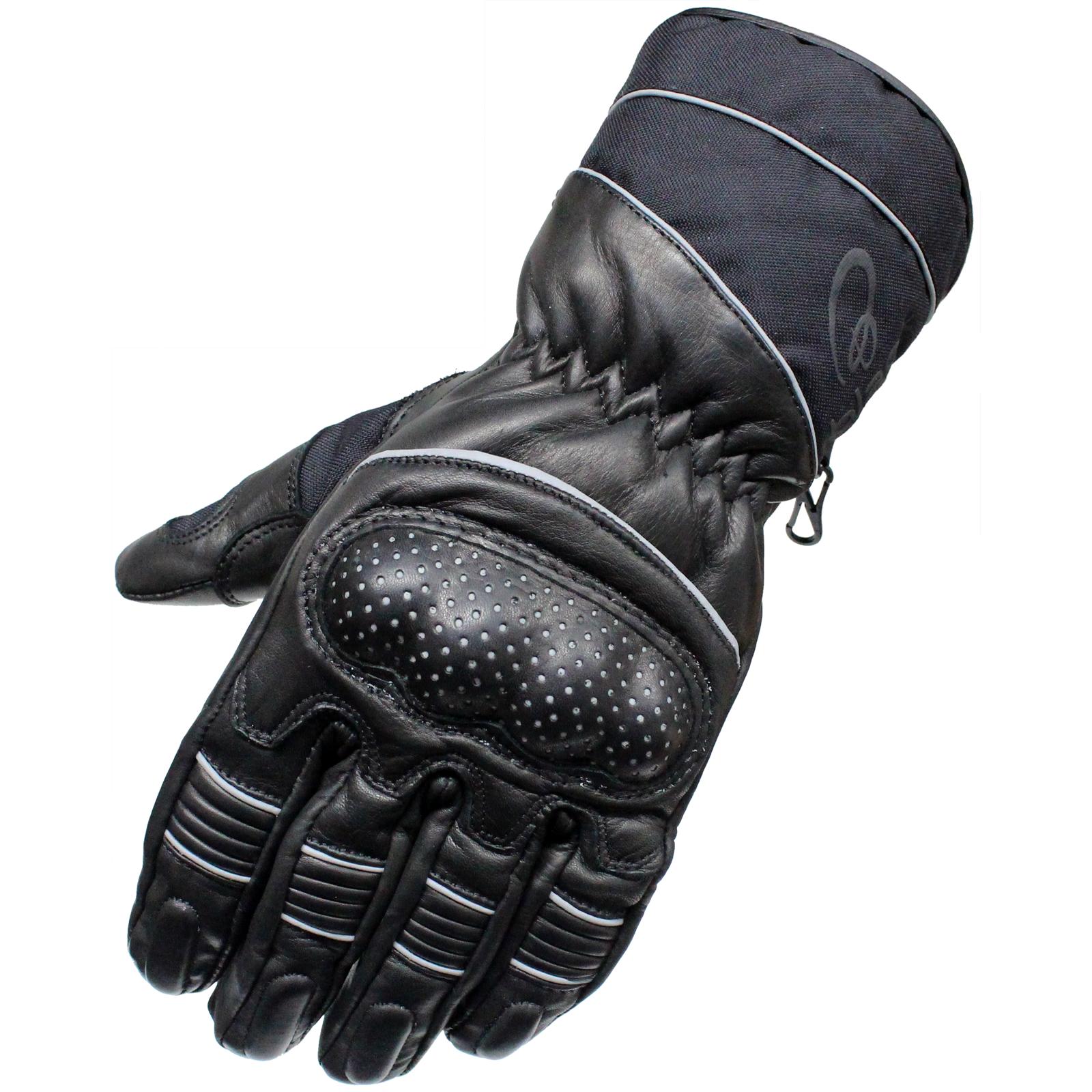 Black vector leather motorcycle motorbike waterproof all season