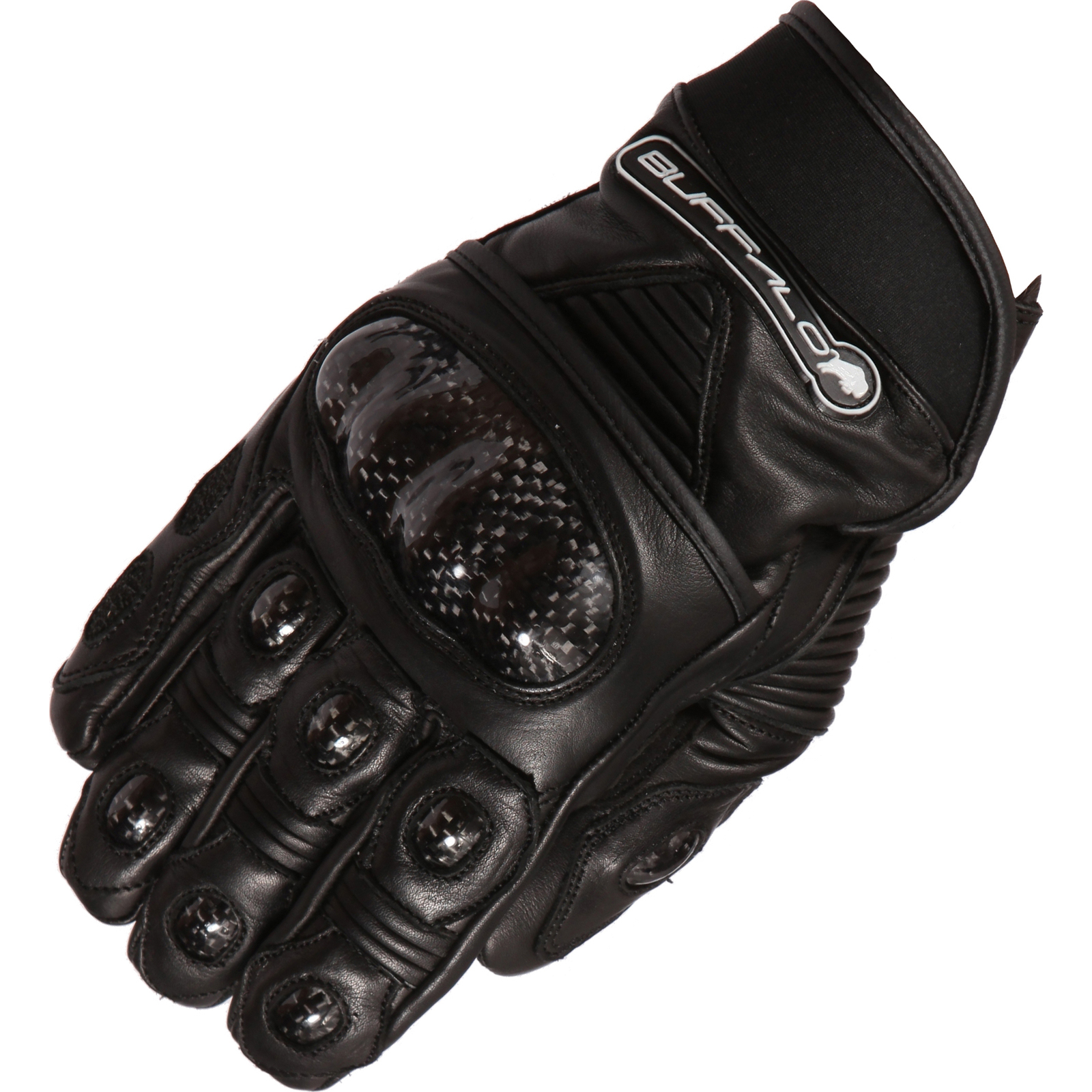 Buffalo corto motorcycle gloves short bike street urban leather hard knuckle