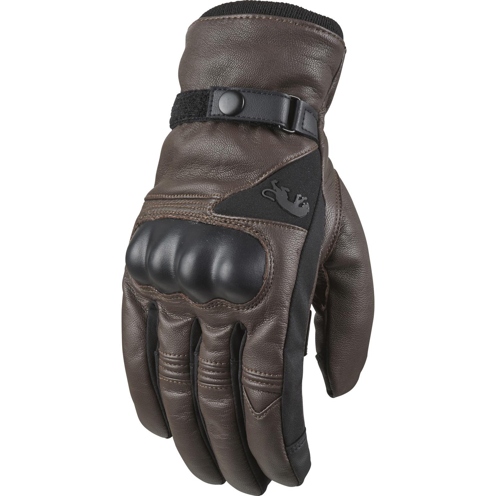 Furygan midland motorcycle gloves motorbike waterproof leather knuckle