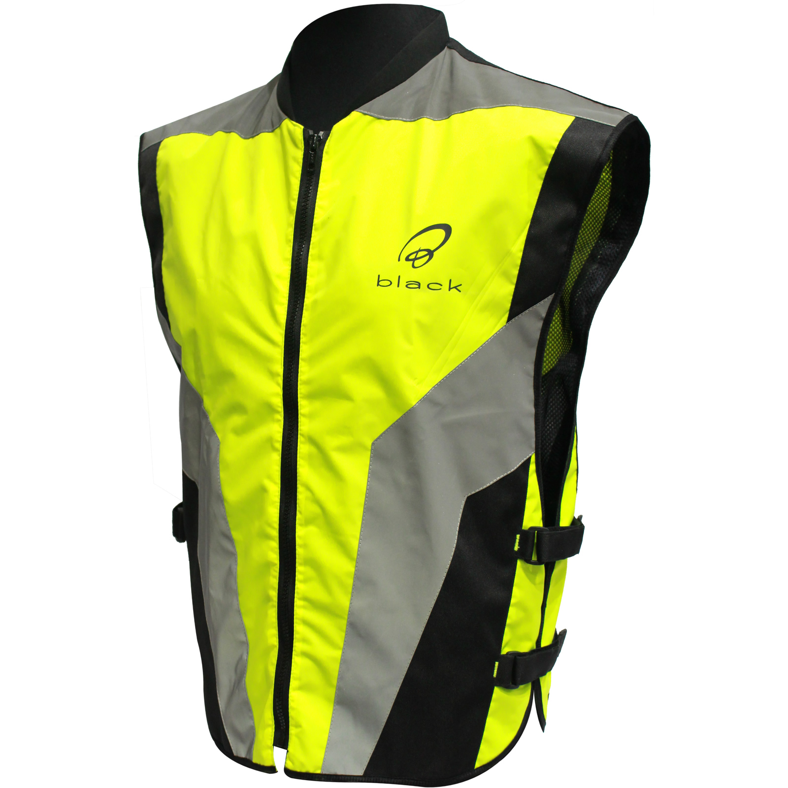 3m Products Australia Black Hi Vis Reflective Motorcycle Vest Xl Yellow Safety