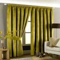 THE LIVING ROOM: GREEN CURTAINS NA MVUTO WAKE