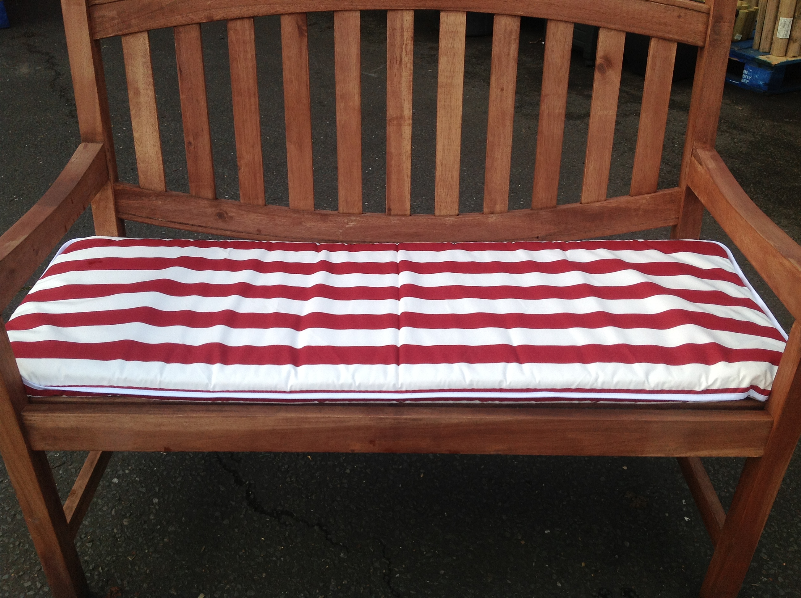 White Bench Seat 4ft Garden Bench Cushion Red And White Stripe Hammock Seat