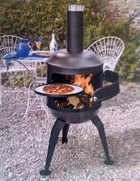 NEW CHIMENEA BBQ PIZZA OVEN REAL STONE OUTDOOR COOKER ...