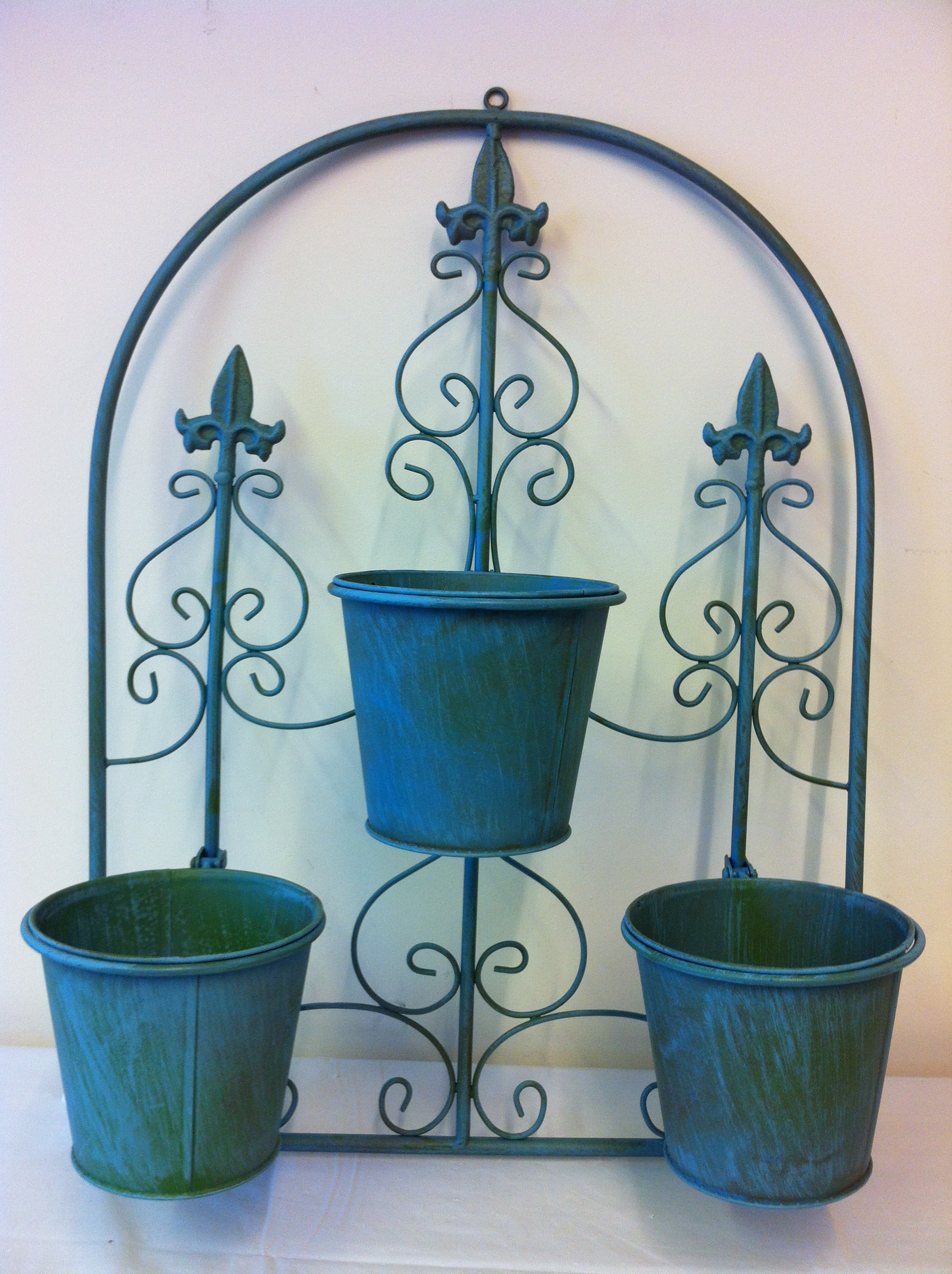 Wall Mounted Pots 3 Pot Arch Planter Wall Hanging Garden Ornament Includes