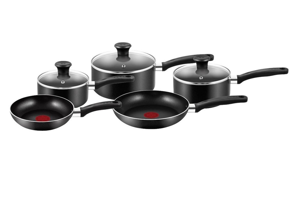 Tefal Pan Set Tefal Non Stick 5 Piece Pans Set 3 Saucepans 2 Frying Pans