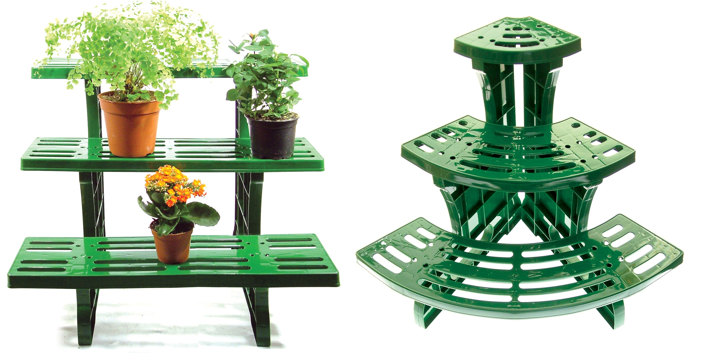 Corner Table For Plants Corner Or Straight 3 Tier Etagere Plant Pot Garden Display