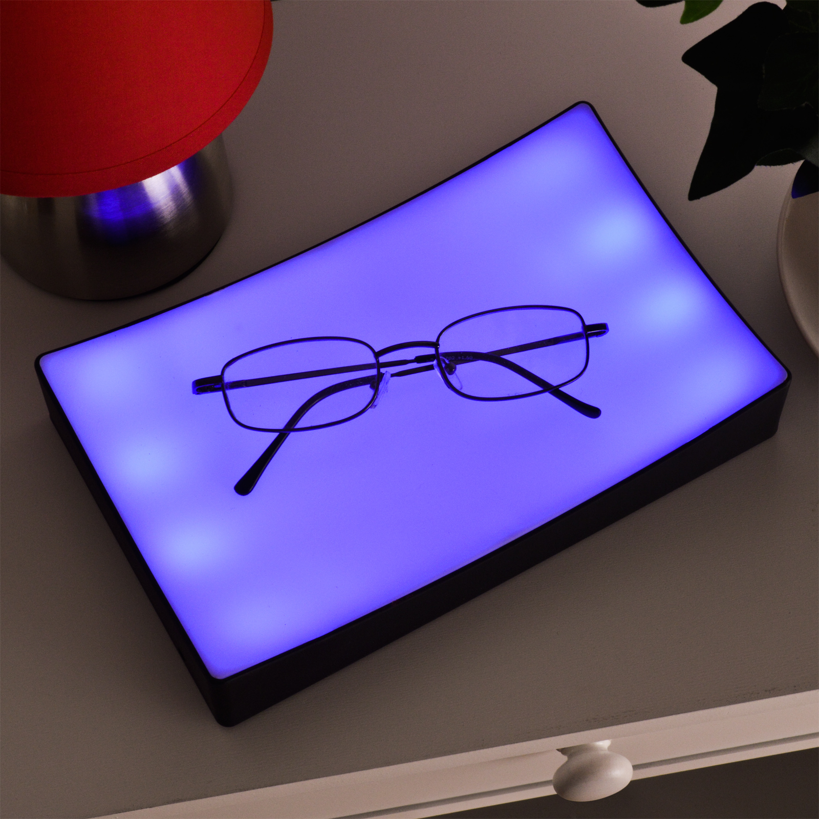 Night Light With Dimmer Bedside Touch Lamp Tray Bedroom Lights Dimmer Blue Table