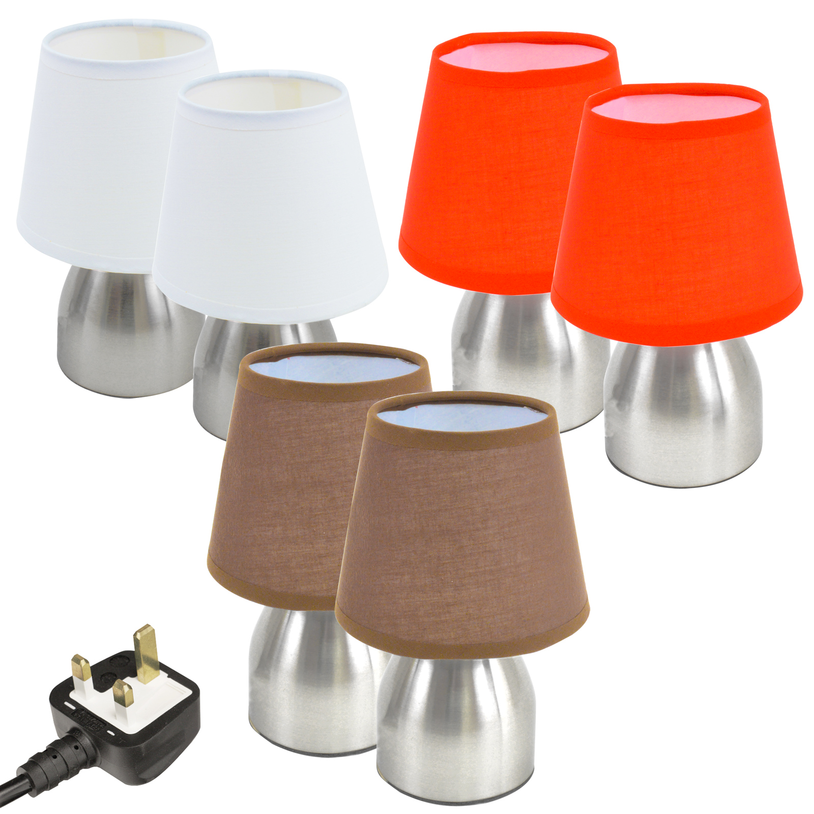 Touch Dimmable Lamps Touch Lamps Lights Light Small Compact Bedside Set Of 2