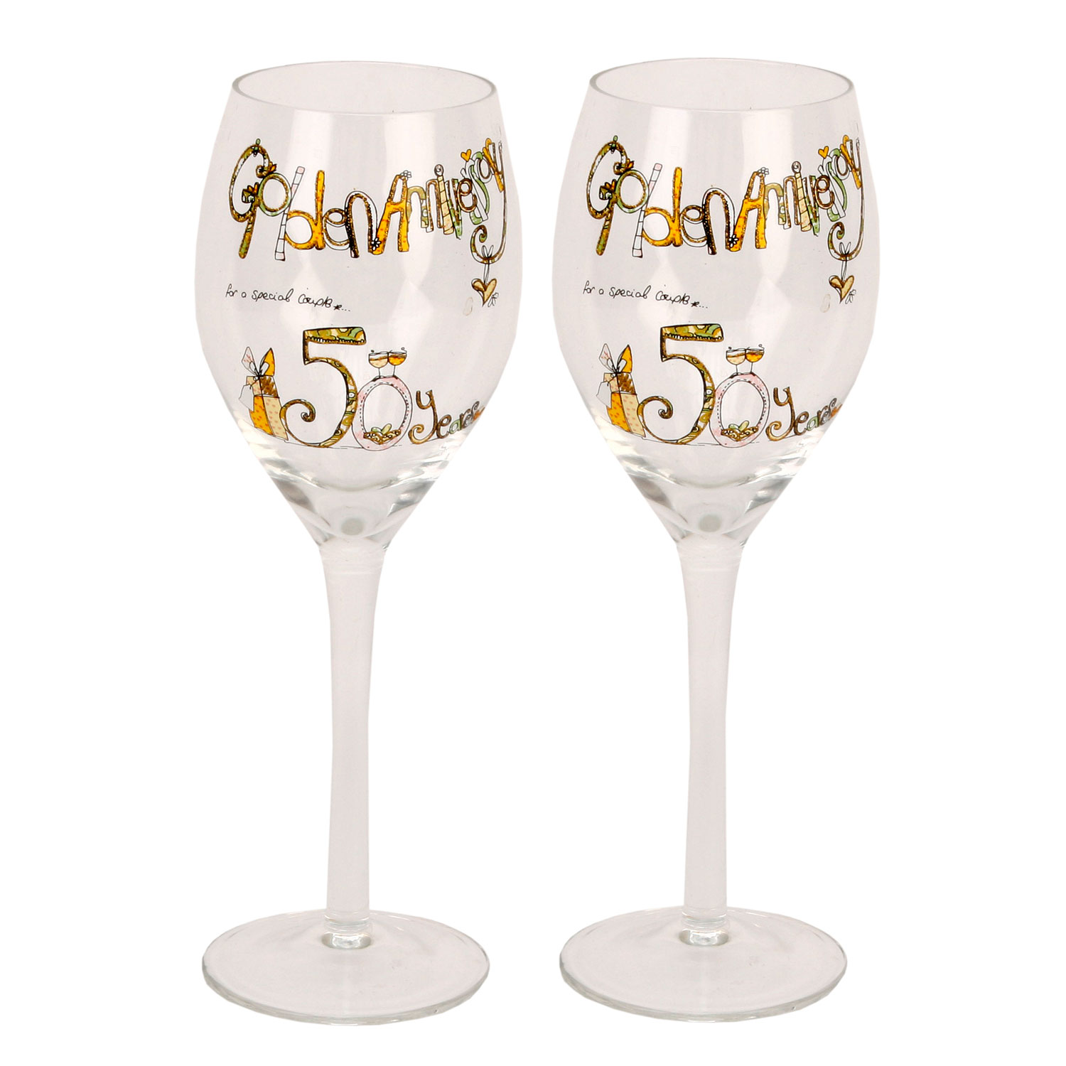 Fancy Wine Glass Tracey Russell Decorative Wine Glasses 50th Gold