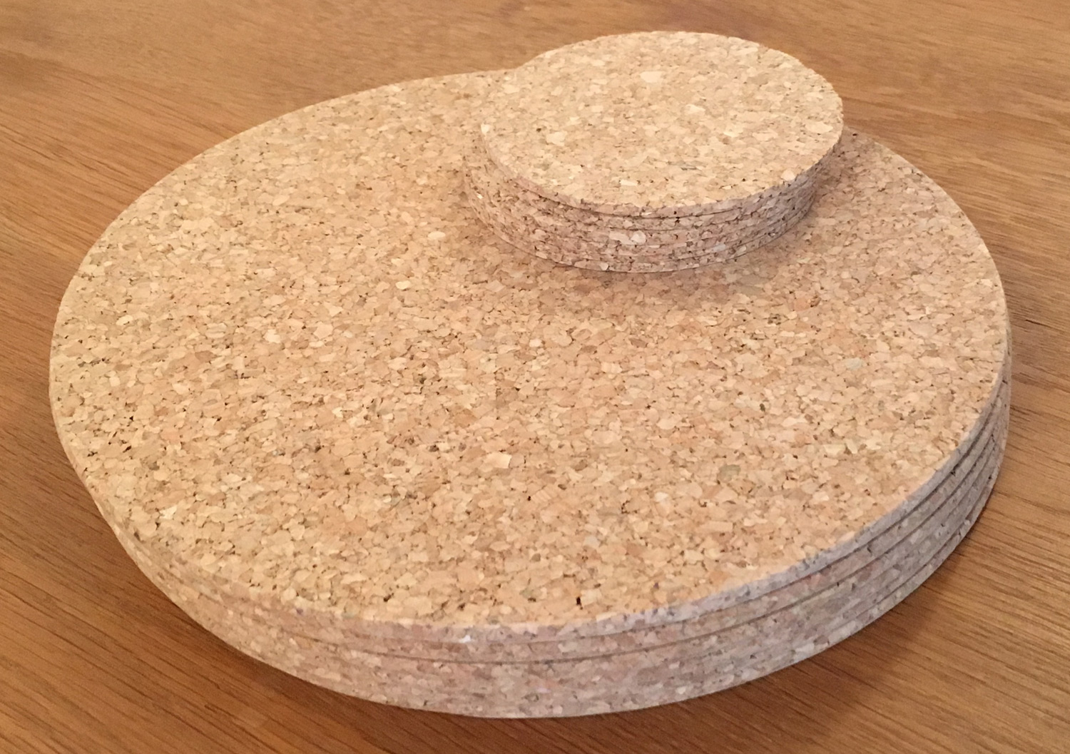 Diy Table Coasters Vintage Round Cork Placemats Drinks Coasters Kitchen