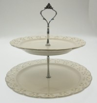 2 tier cake stand - a gold touch porcelain 2 tier cake ...