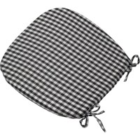 """Gingham Check Tie On Seat Pad 16"""" x 16"""" Kitchen Outdoor ..."""