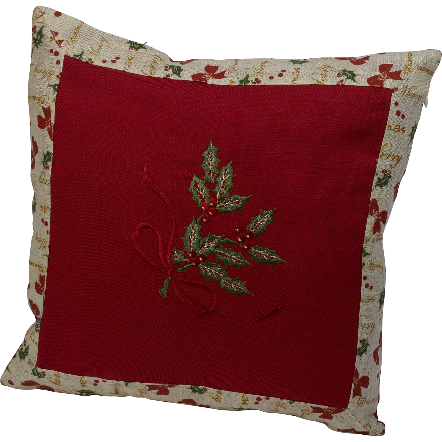Cushion Covers Christmas Festive Embroidered Christmas Cushion Cover Decorative