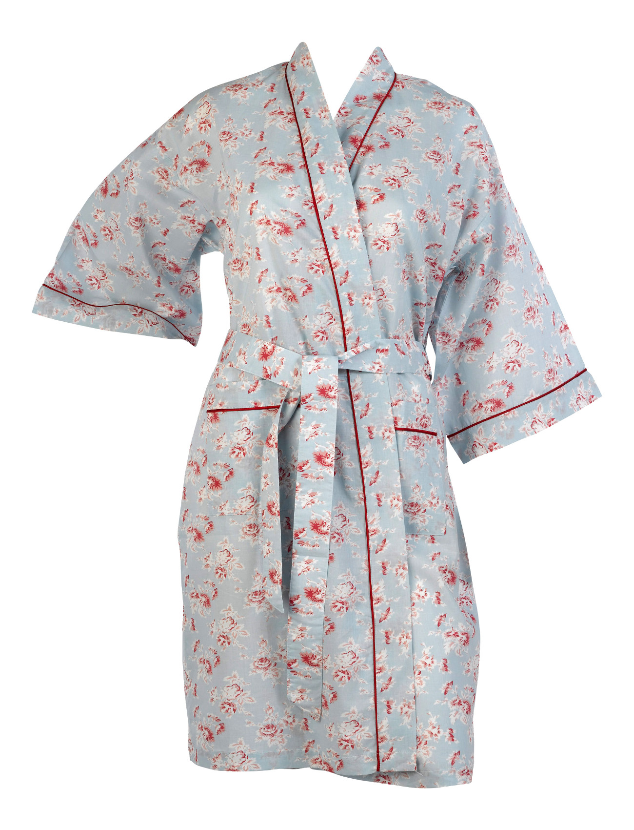 Cotton On Dressing Gown Ladies Vintage Floral Kimono Wrap Womens Lightweight