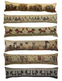 Animal Design Tapestry Draught Excluder Fabric Door Window ...