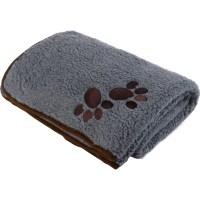 Pet Face Soft Sherpa Fleece Dog Blanket Warm Cosy Paw ...