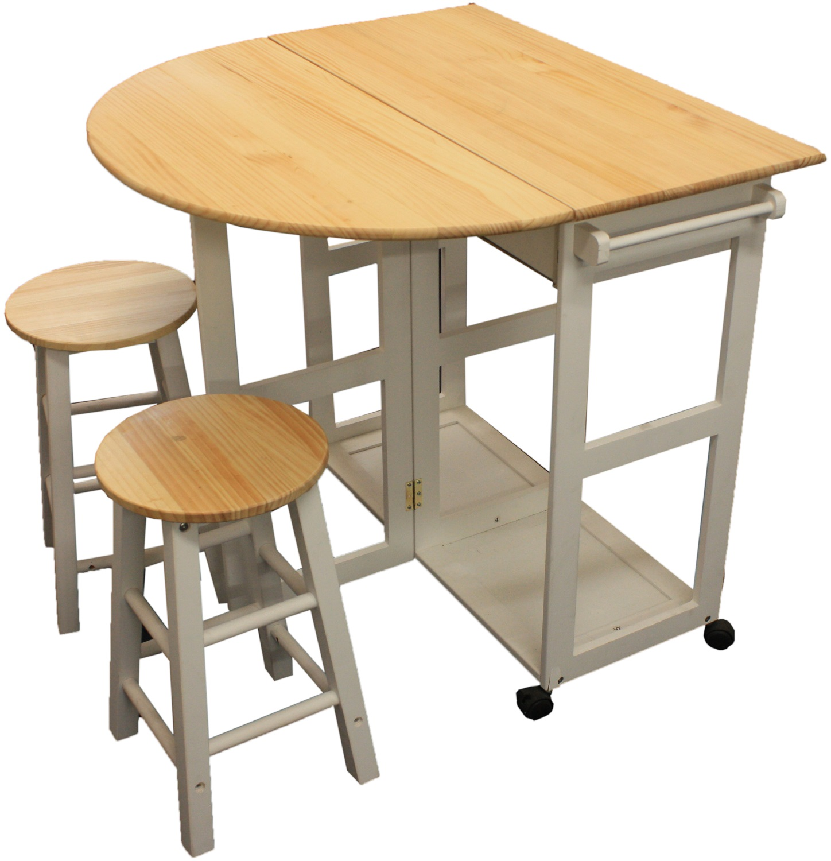 MARIBELLE FOLDING TABLE AND STOOL SET KITCHEN BREAKFAST