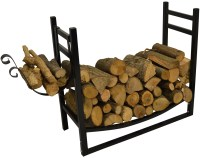 HAUSEN INDOOR WOOD RACK WITH KINDLING HOLDER LOG/FIREWOOD ...