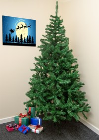 Traditional 7FT Green Christmas/Xmas Tree 210CM Artificial ...