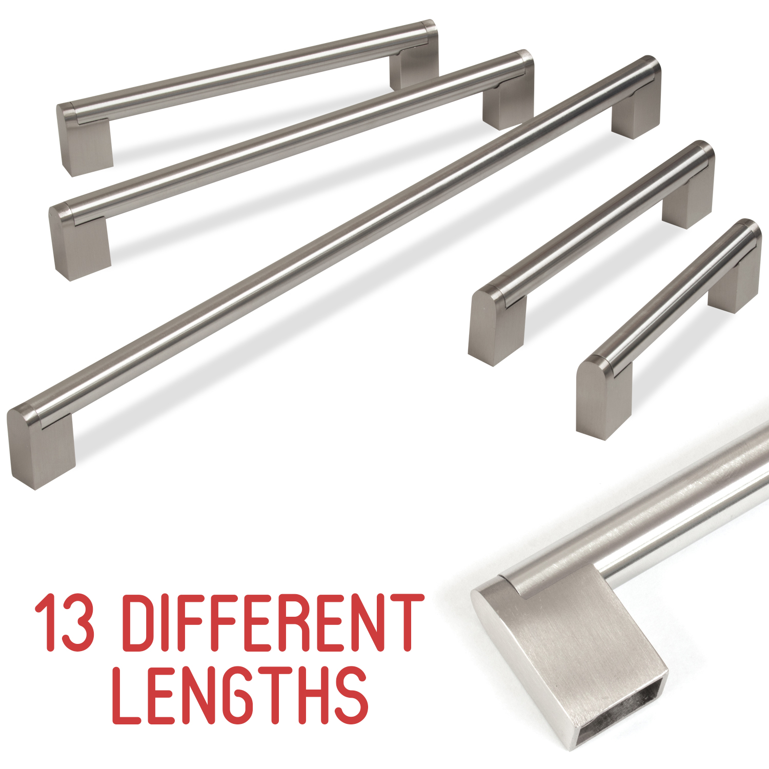 Handgreep Rvs Kitchen Cupboard Cabinet Boss Bar Door Handle Brushed