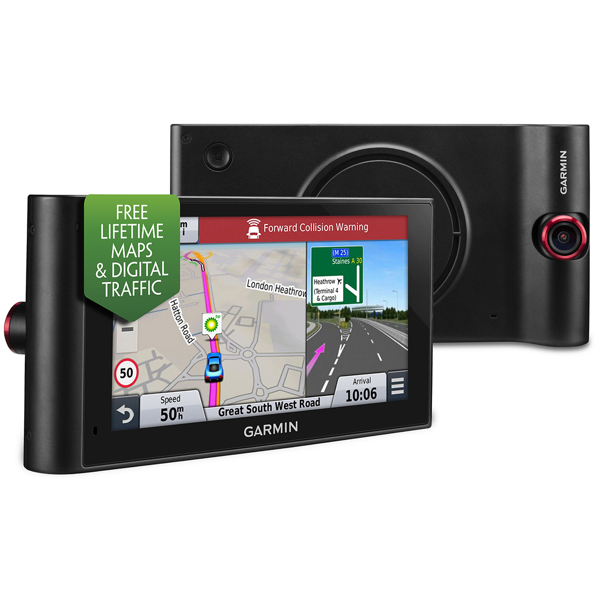 Best Free Sat Nav For Iphone New Garmin Nuvicam Lmt D Gps Sat Nav Built In Dash Cam
