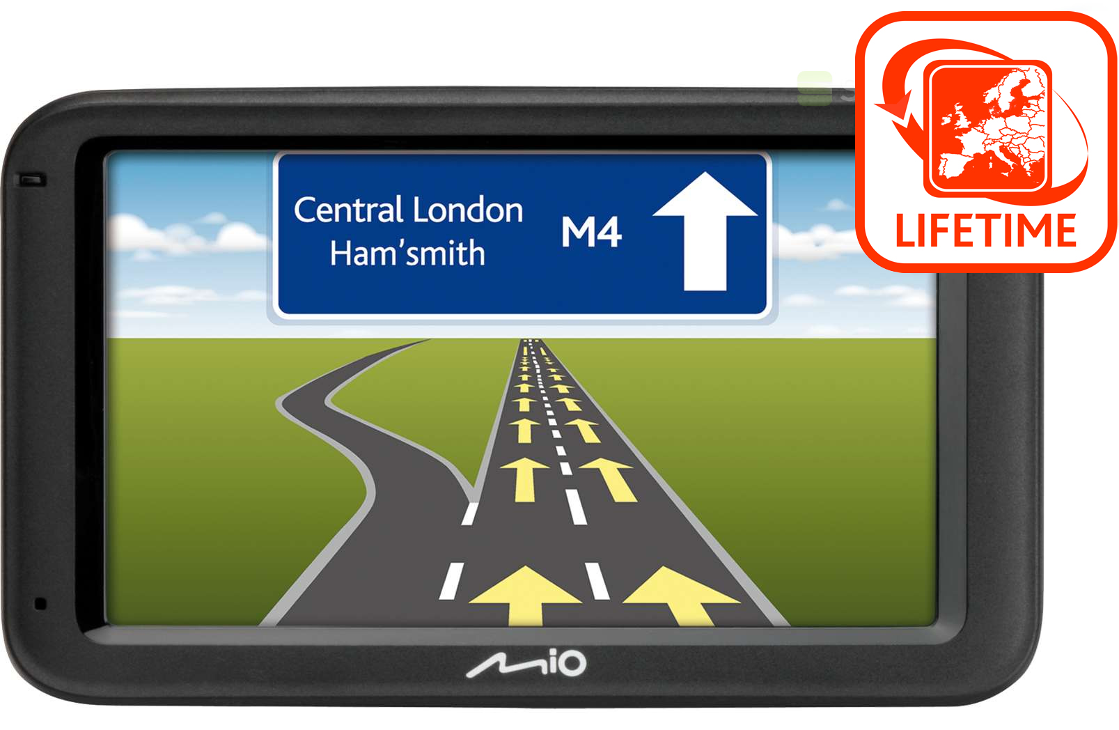 Best Free Sat Nav For Iphone Mio M614lm Gps Sat Nav 43 Tomtom Iq Routes And Free Lifetime