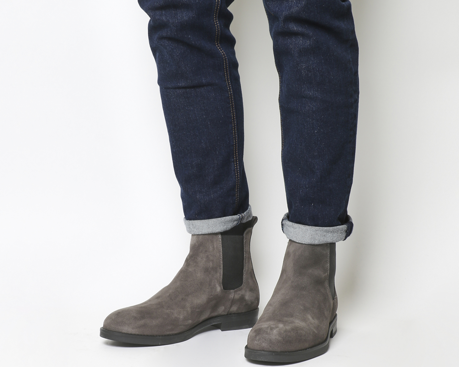 Mens Grey Suede Chelsea Boots Best Picture Of Boot