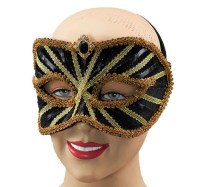 Black And Gold Masquerade Mask Fancy Dress