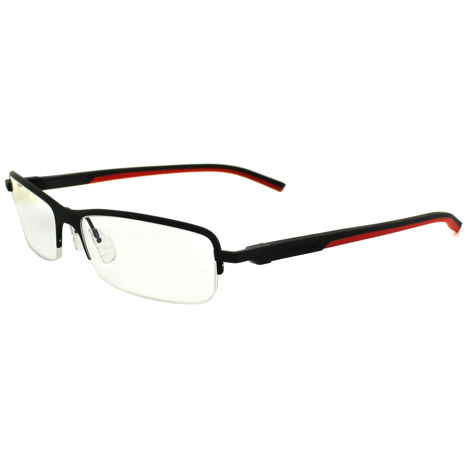 Tag heuer glasses frames automatic 0824 012 matt black red