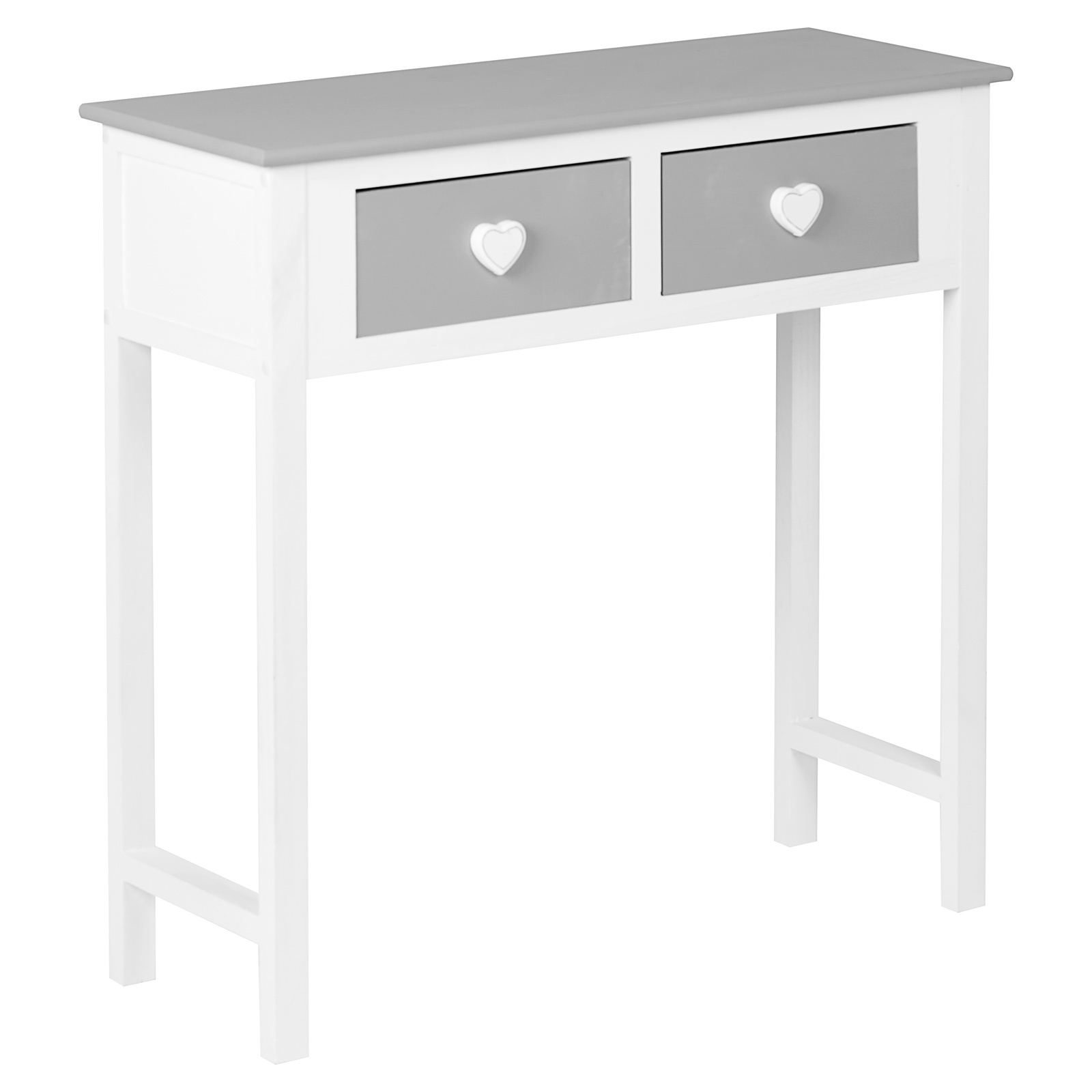 Girls Dressing Table Details About Hartleys White Grey 2 Drawer Heart Dressing Console Side Table Girls Bedroom