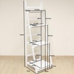 Small Crop Of White Ladder Shelf