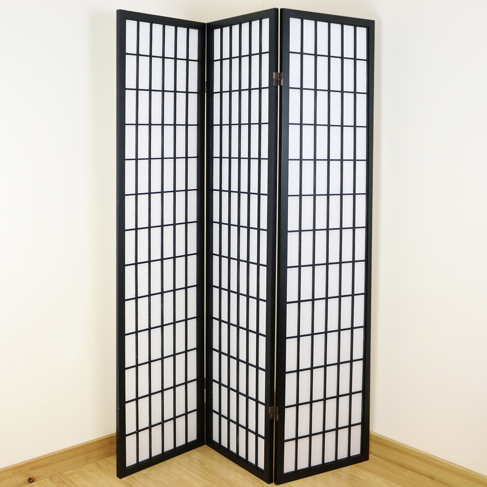 Room Divider Screens Black And White 3 Panel Shoji Folding Privacy Screen