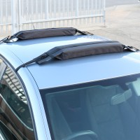 PAIR OF UNIVERSAL SOFT/PADDED CAR ROOF BARS LUGGAGE/KAYAK ...