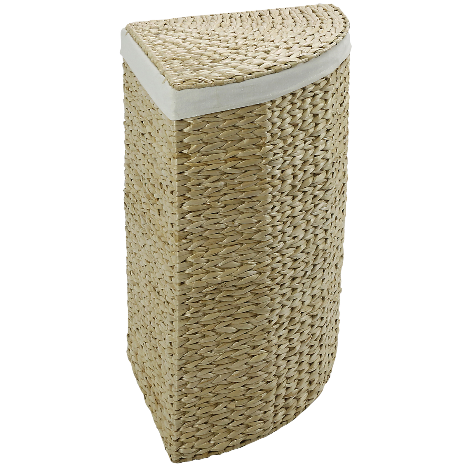 Corner Laundry Hartleys Corner Laundry Basket Hamper Compact Wicker Large