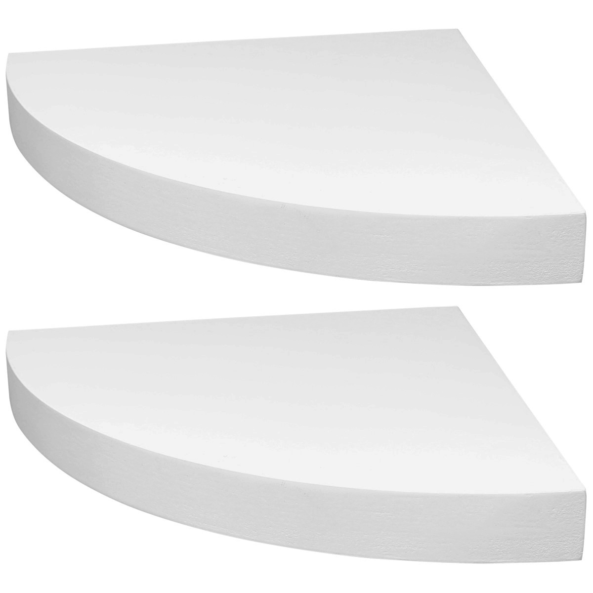 White Wood Wall Shelves Hartleys Set Of 2 White Corner Wooden Curved Floating Wall