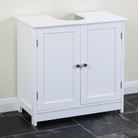 Classic White Under Sink Storage Vanity Unit Bathroom ...