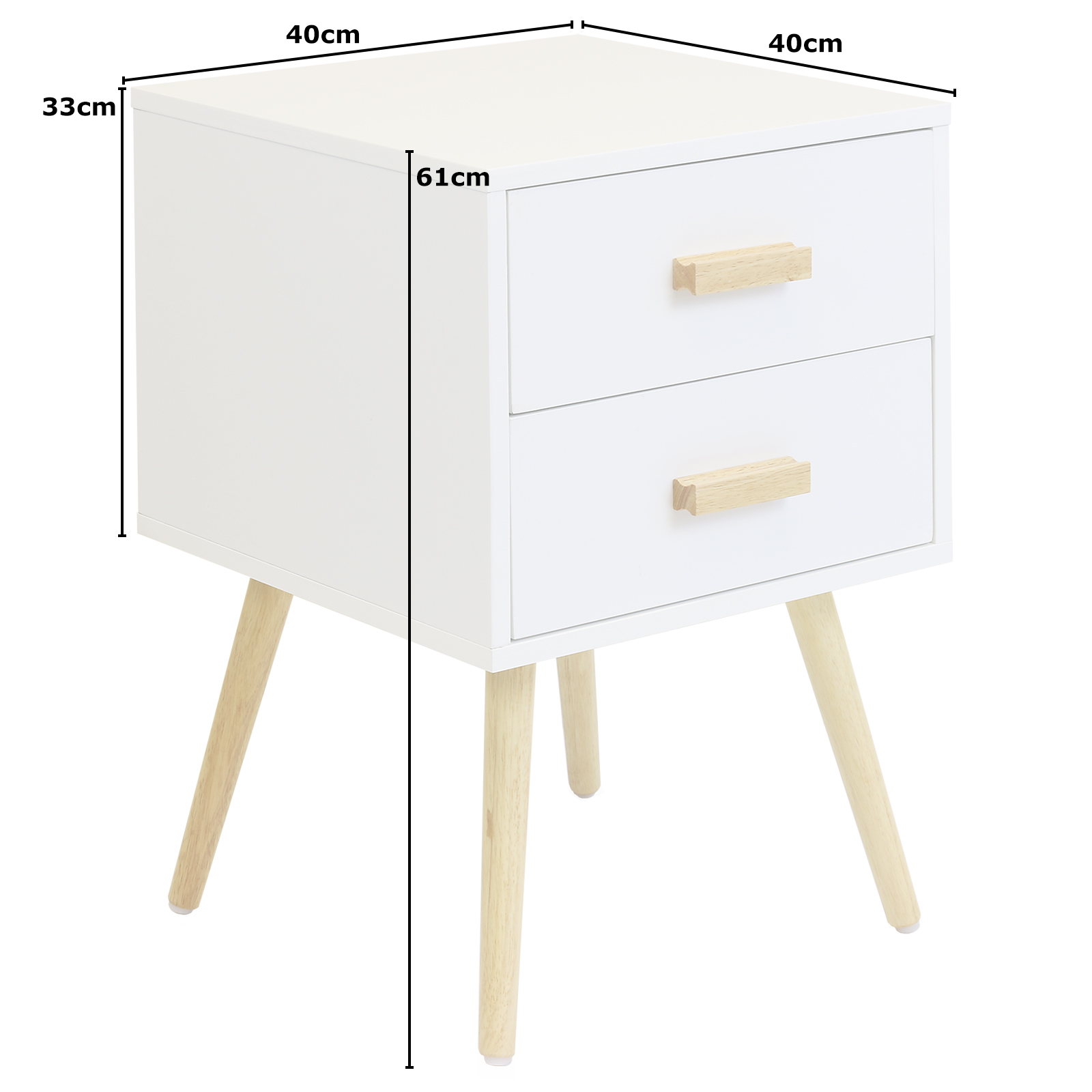 White Bedside Drawers Hartleys 2 Drawer White Bedside Table Wood Legs