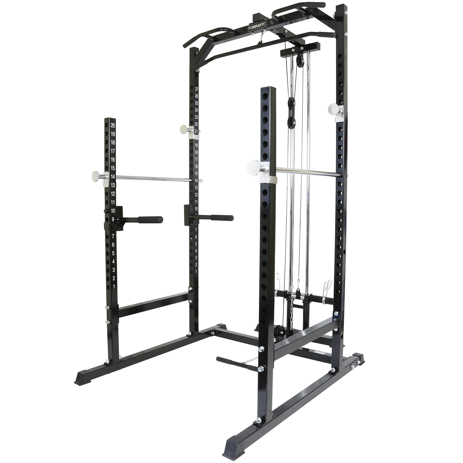 Mirafit Half Power Cage Rack Cable Pull Down With