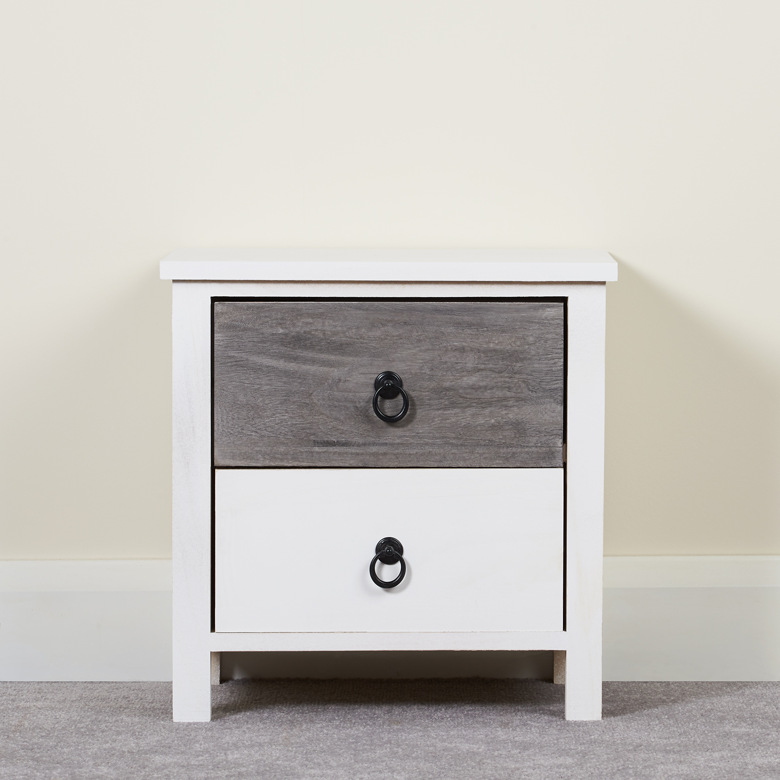 Small White Bedside Table Hartleys Small White Bedside Table 2 Drawer Nightstand