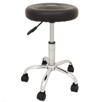 ADJUSTABLE ROUND SWIVEL CHAIR STOOL SEAT FOR BEAUTY ...