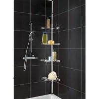 METAL CORNER SHOWER/BATHROOM BASKET CADDY/SHELF TELESCOPIC ...