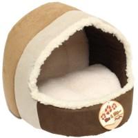 ME & MY LUXURY SOFT PLUSH CAT/DOG IGLOO PET BED WARM HOUSE ...