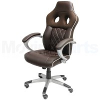 DAMAGED BROWN LUXURY COMPUTER/OFFICE CHAIR CAR SEAT BUCKET