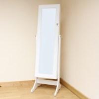 Hartleys White Full Length Floor Standing Mirror Jewellery ...
